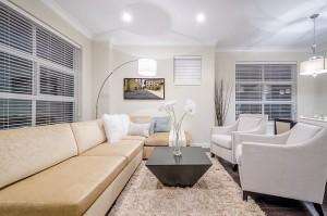 Immobilienfoto, Details eines Wohnzimmers