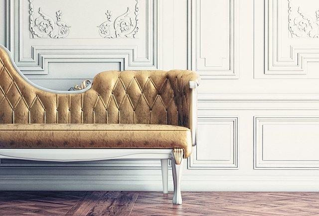 Interieurfoto, altes Vintage Sofa