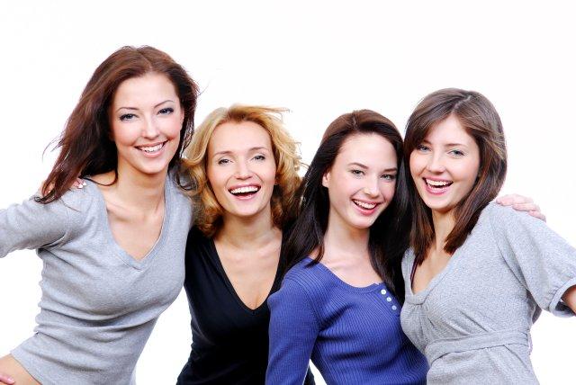 Gruppenfoto im Studio