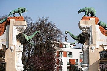 Eingangstor zum Tierpark Hagenbeck in Hamburg