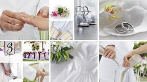 Hochzeitsbilder Collage