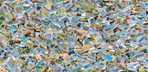 Collage mit tausenden Fotos
