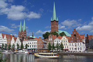 Lübeck Ansicht vom Wasser