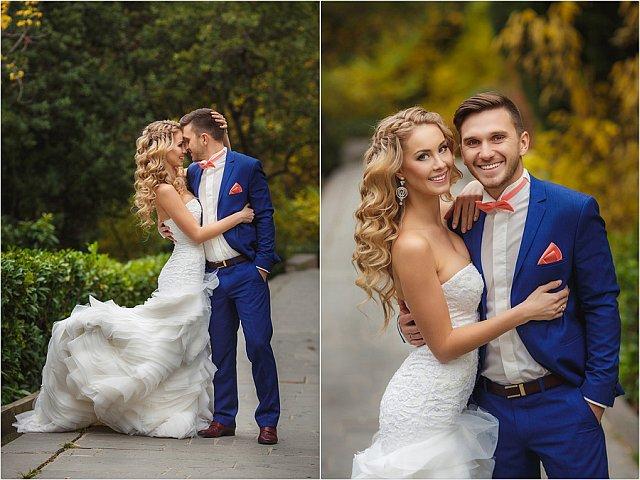 Collage hübsches Brautpaar