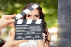 Braut wird gefilmt
