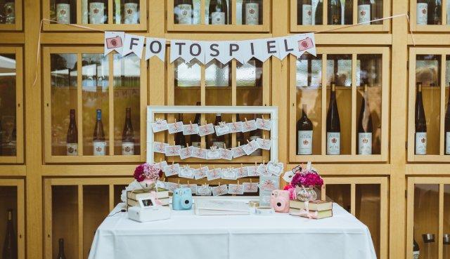 Fotospiel Fototisch auf einer Hochzeit