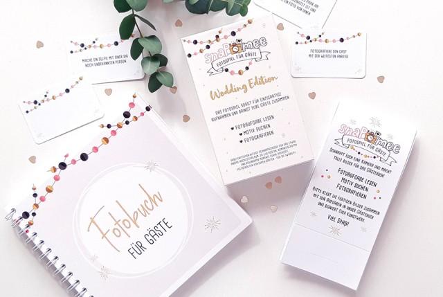 Fotospiel Hochzeit Sparpaket mit Box, Fotobuch & Anleitung