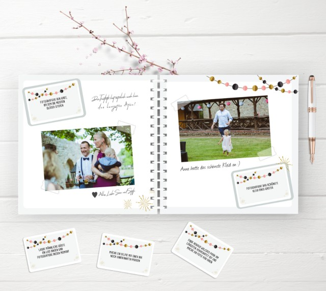 Fotospiel Hochzeit mit Gästebuch