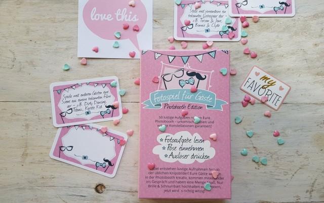 Photobooth Aufgaben - Fotospiel für Ihre Hochzeit