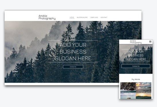 Fotografen Homepage mit Baukasten erstellt
