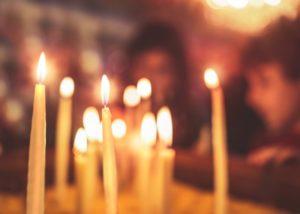 Motive für eine Taufe: Kerzen